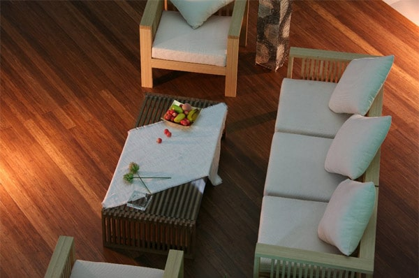 Forest brown bamboo flooring