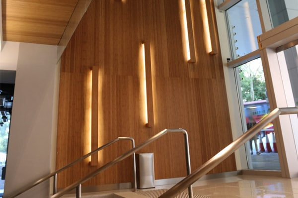 Linea bamboo wall cladding